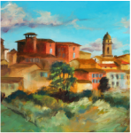 Italy paintings at Muse Coffee and Tea