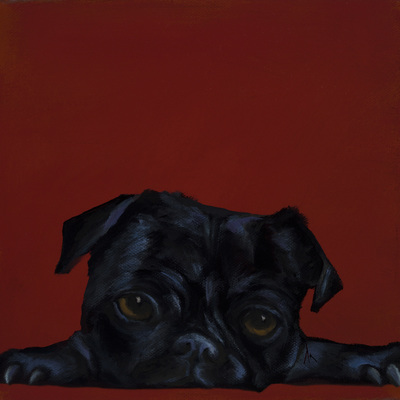 "Happiness Is, Pug, Dog, Art, Pet, Portrait, Fine Art, Oil, Painting, Custom, Commission Your Own, Happiness Is,   The ""Happiness is"" series title is derived from the classic ""Peanuts"" comic strip statement 'Happiness is a warm puppy'. I began the series creating gifts of dog portraits of family and friends' furry companions. Now many of the paintings are available as canvas prints, reproductions start at $50 and magnets of your favs are just $3. Ideal for homes and the lobbies and interiors of any animal related business (vet clinics, grooming, boarding, supplies etc) or organization (aspca, humane society, rescues, shelters, etc). A portion of each print sale goes to no-kill shelters and rescues to help animals find their people. If anyone is of interest in learning more about what we can do for their space just contact me."