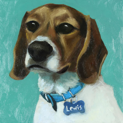 "Beagle, Happiness Is,  Dog, Art, Pet, Portrait, Fine Art, Oil, Painting, Custom, Commission Your Own, Happiness Is,   The ""Happiness is"" series title is derived from the classic ""Peanuts"" comic strip statement 'Happiness is a warm puppy'. I began the series creating gifts of dog portraits of family and friends' furry companions. Now many of the paintings are available as canvas prints, reproductions start at $50 and magnets of your favs are just $3. Ideal for homes and the lobbies and interiors of any animal related business (vet clinics, grooming, boarding, supplies etc) or organization (aspca, humane society, rescues, shelters, etc). A portion of each print sale goes to no-kill shelters and rescues to help animals find their people. If anyone is of interest in learning more about what we can do for their space just contact me."